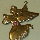 Goldtoned Angel Ornament for October Birthday Pretty