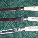 Steak Knives With Floral Design, Vintage