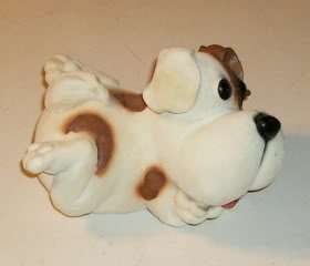 Spotted Puppy Yard Ornament/Doorstop, Adorable,Ceramic
