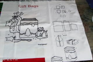 Fabric Panel to Make 3 Gift Bags - Grt  for Gift Giving