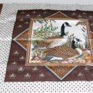 Goose & Turkey Pillow Panel -Game Birds Pillow