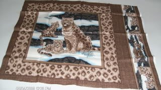 Leopard Mother & Cubs Pillow Panel Front - Gorgeous