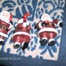 ADORABLE SANTA CHRISTMAS ORNAMENTS