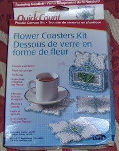 UNIE QUICKCOUNT FLOWER COASTERS, NEW IN BOX