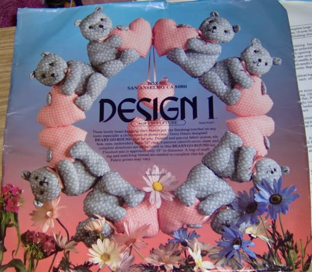 BEARY GO ROUND SOFT SCULPTURE WREATH FROM DESIGN 1