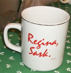 Regina Saskatchewan Coffee Mug, Gold,White & Red, New