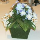 Floral Flower Basket - Unique Look - No Watering