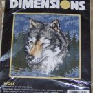 Dimensions Wolf, Gray & Blue Wolf Head, Very Pretty,NIP