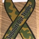 Support Our Troops Camoflage Magnet For Vehicle,New