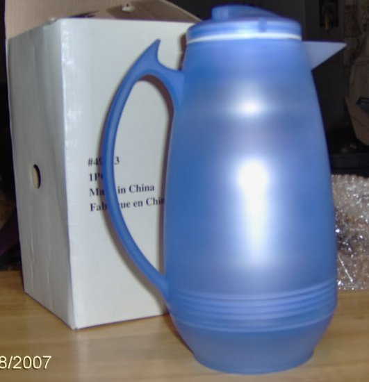 CUTE BLUE THERMAL PITCHER - NEW IN BOX