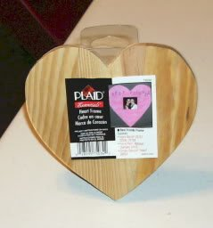"""Best Friends"" Wood Heart with Easel Back From PLaid Co"