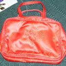 PRETTY RED COSMETIC BAG, NEW WITH TAG, ELEGANT, NICE