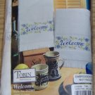WELCOME TOWELS FROM TOBIN-FLOWERS-TERRYCLOTH