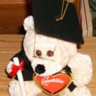 Graduation Bear With Cap & Picture Frame-Black & Tan