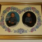 Gold Floral 8 x 10 Photo Frame with Ovals, Very Pretty