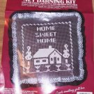 VOGART CRAFTS HOME SWEET HOME LACE NET DARNING KIT