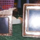 2 PRETTY SILVER FRAMES- NEW- TAKE A LOOK