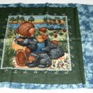Bear Harvest Black Bear Pillow Panel - Cute