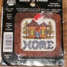 HOME STITCH N FRAME ORNAMENT NEEDLEMAGIC HOUSE & TREES
