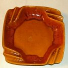 Large Goldish Brown Decorator Ash Tray,Made In Usa,Nice
