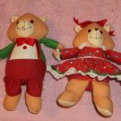 Russ Berrie Bear Couple,Adorable For Collection or Play