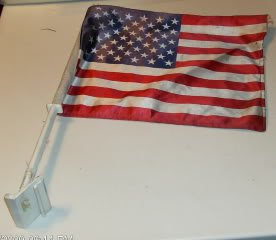 U.S.A. Flag For Window in Automobile
