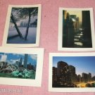4 Chicago Picture Post Cards, Laminated, Very Pretty