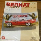 BERNAT FORD T-BIRD CAR SLEEK RACY  CUTE MODEL RUG KIT