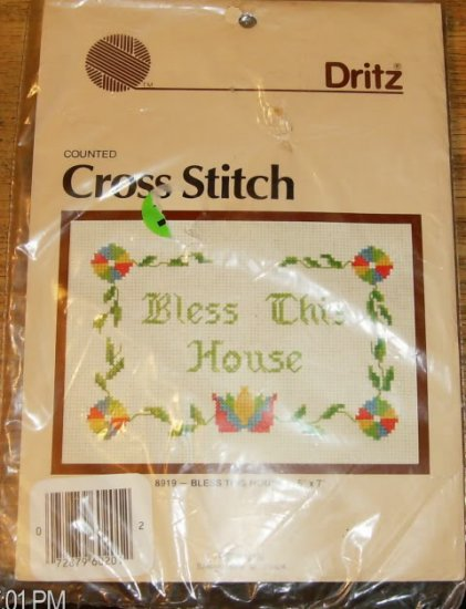 BLESS THIS HOUSE XSTITCH PICTURE FROM DRITZ