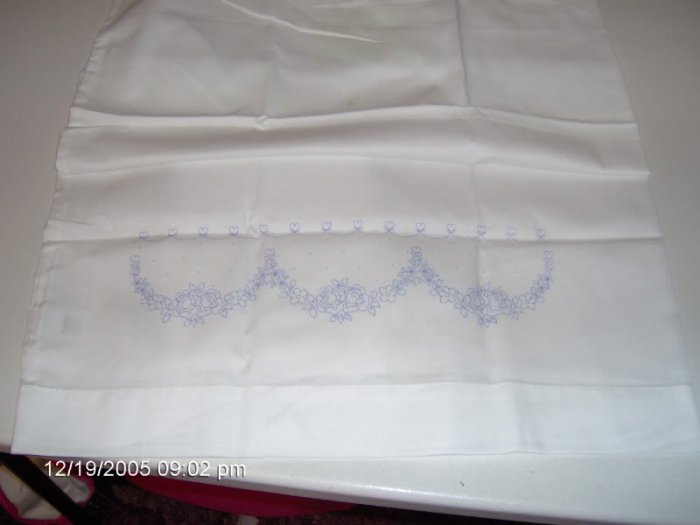 PRETTY FLOWER PILLOW CASES WITH TINY HEARTS