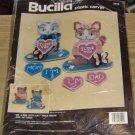 BUCILLA MR AND MRS KITTY CAT TABLE DECOR , NIP