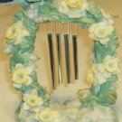 Green & Yellow Chimes - Floral Decor - Very Pretty