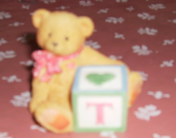 Cherished Teddy Block Letter T - Adorable- Dated 1995