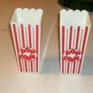 Fun Popcorn Snack Glasses,Old Theatre Style,Red & White
