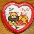 JOYFUL NOEL CAT JAR-HEART SHAPED - CUTE-NEW