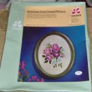LEE WARDS VICTORIAN ROSES OVAL CREWEL PICTURE-NIB