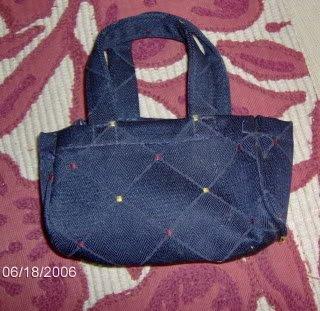 Pretty Blue Mini Shopping Bag, new