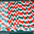Xmas Christmas Small Afghan - Handmade - Very Pretty