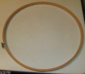 """Wooden Embroidery Hoop 14"""" Round - Very Nice Hoop #7"""