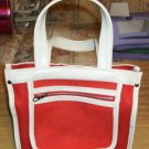 Red & White Purse & Black & Brown Purse,Good Condition