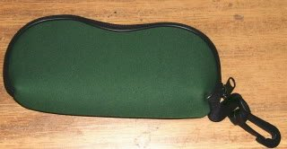 Clip-on Magnifying Glasses and Green Case, Belt Hook