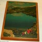 Mountain Lake Scene On Wood Board, Very Pretty, Scenic