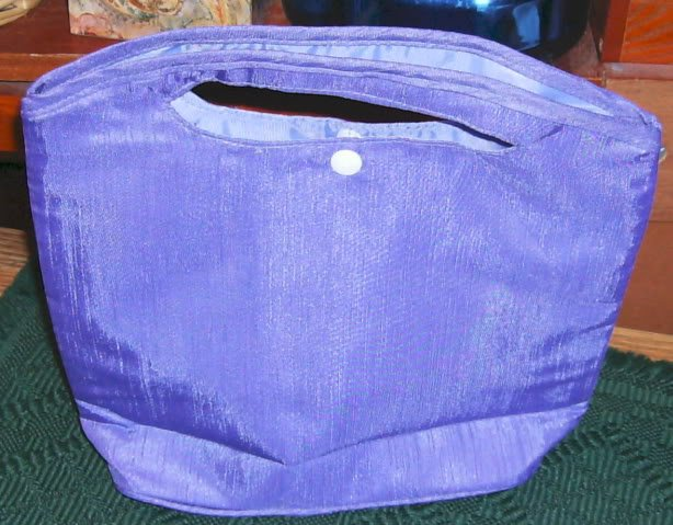 Satin Lavender Clutch Bag, New,  Pretty, Day or Night