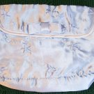 Embroidered Cosmetic Bag w/Bow, Blue, Very Pretty,New