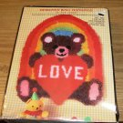 LOVE BEAR & RAINBOW WALL HANGING NICOLE CREATIONS NIB