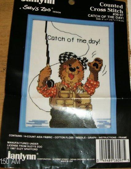 JANLYNN CATCH OF THE DAY XSTITCH-SO CUTE- BEAR