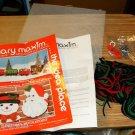 MARY MAXIM SNOWMAN WALL HANGING - CUTE,XMASY,CHEERY