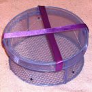 Pretty Purple Satin Trinket or Jewelry Box, or Makeup