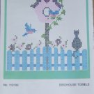 BIRDHOUSE KITCHEN TOWELS TO CROSSTITCH FROM HERRSCHNERS