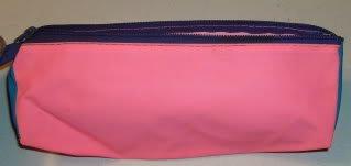 Bright Pink & Blue Bag,Holds Pens,Makeup Brushes & More